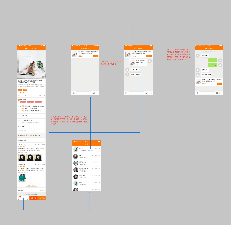 客服功能支持快捷分享图片